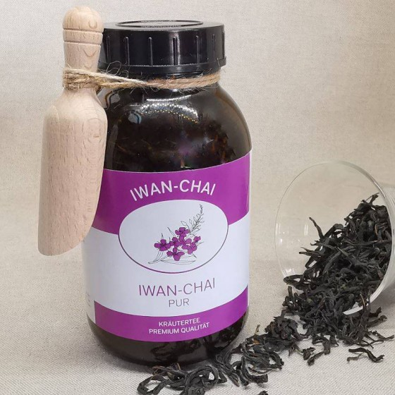 Iwan-Chai pur im lichtgeschützten braunen Apothekerglas