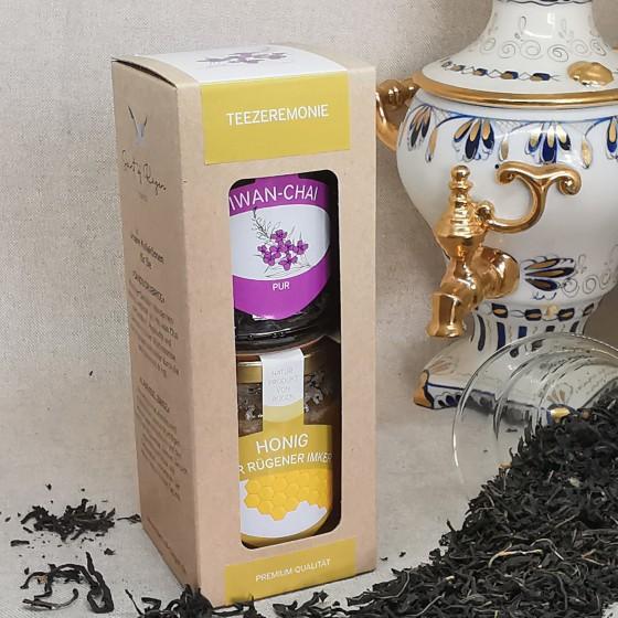 Geschenkset Teezeremonie Iwan-Chai und Honig der Rügener Imker